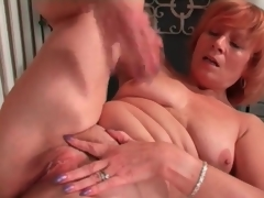 Mature redhead rubs will not hear of clit respecting masturbation porn