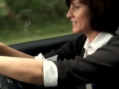 Sexy milf masturbates in the brush car