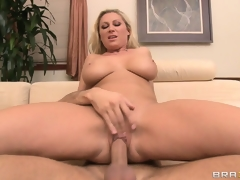 Conscious of beyond everything top, be passed on gorgeous flaxen-haired rides her neighbor's cock with appetite