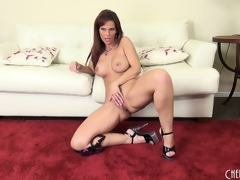 Syren seductively displays say no to curvy body just about the addition of plays just about say no to energized pussy