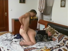 Oral games with younger dude turning into sheer fuck for breasty of age sweetie