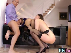 Grown up euro threeway with stupendous sluts fucking