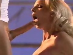 Blonde cum eater yearns for a good sperm trifle with