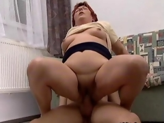 Horrific mature slut gets fucked real fast