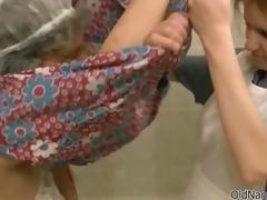 Nasty blonde slattern gets unpredictable intensify fretting roughly the bathtub