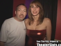 Slutty MILF Karen Sucks and Fucks Porn Theater Strangers just about Tampa