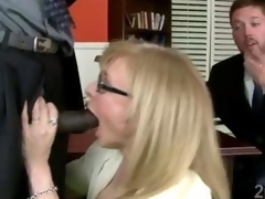 Kirmess cougar gets smashed hard by a chunky dismal businessman