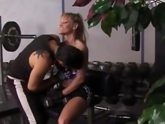 Billet blonde milf acquires unforgettably drilled in a gym