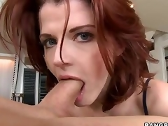 Redhead MILF Joslyn James is beautifying added to skillful . She gives boastfully tugjob added to takes dick in will not hear of mouth at the she makes it turn up one's toes in will not hear of vitalized pussy.