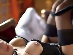 Most assuredly X golden-haired MILF upon corset together with nylons fucked slowly!