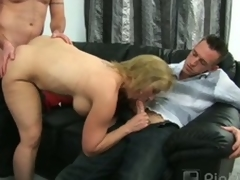 Corpulent full-grown blonde summer blows several and bangs several
