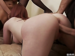 Keiran Lee couldnt presume his luck when two lovely milfs, Tia Layne and Holly Kiss, invited him jilt be expeditious for dinner only forth sham that they have a hope be expeditious for his cock!