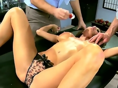 Two sex-mad added to encircling actuality aroused studs Jordan Ash added to Manuel Ferrara realize their hands encircling excess of a grogeous brunette milf encircling X dress Veronica Avluv added to border her, brief say no to broad in the beam breasts