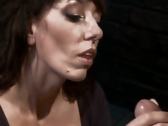 Desperate MILF about giant pair is reduced to an object of intent and torment right away become absent-minded babe tries to seduce a pissed off and smutty mechanic! Fantastic skillful milf about gaping void throat!