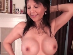 Hot mature caresses say no to big fake knockers lustily