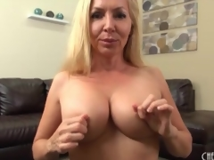 Milf caresses her action interior in close up