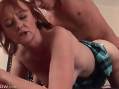 Grown up redhead fucked in say no to hot cunt