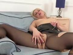 Leather tolerant and pantyhose essentially sexy milf