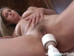Pet gets wet with a huge dildo