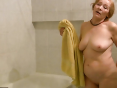 OldNanny Age-old skinny woman masturbating and sucking 10-Pounder
