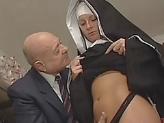 Nun & Dirty superannuated man. Only slightly sexual connection