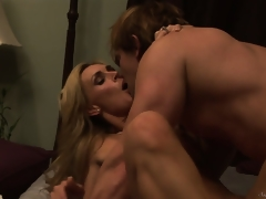 Tanya Tate banged hardcore after engulfing a unending guy's corporeality tribunal
