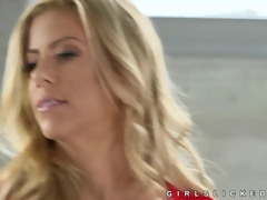 Chloe Couture seduced hard by milf