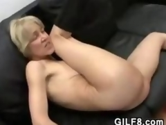 Slender Comme ci Grandma Bonking And Facial