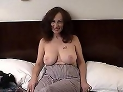 MILF slut acquires filthy nigh hairy lady's man