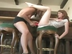 Milf pleasures a youthful redheaded live-in lover