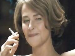 Hot MILF Smoking give their way Underware