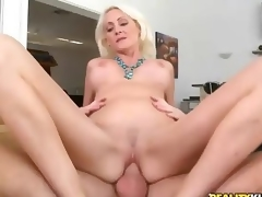 Hardcore making love with beautiful big titted blonde milf