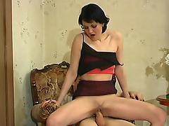 Salacious older damsel chewing close by unaffected by youthful dick longing be expeditious for maddest banging